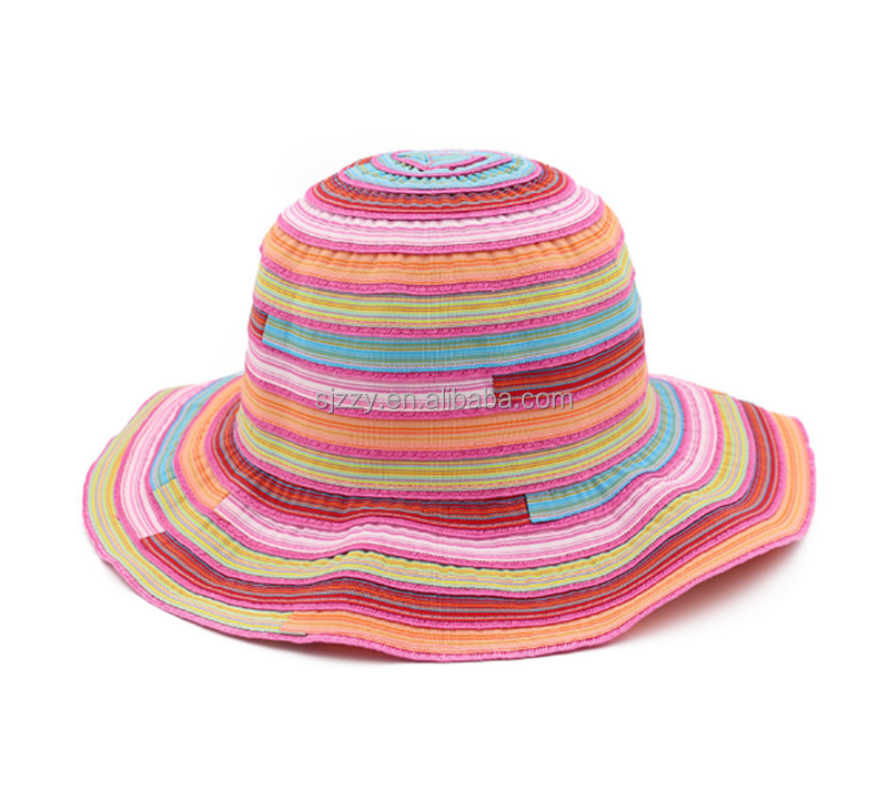 fashion 100% Cotton wide brim floppy beach sun hats for womens