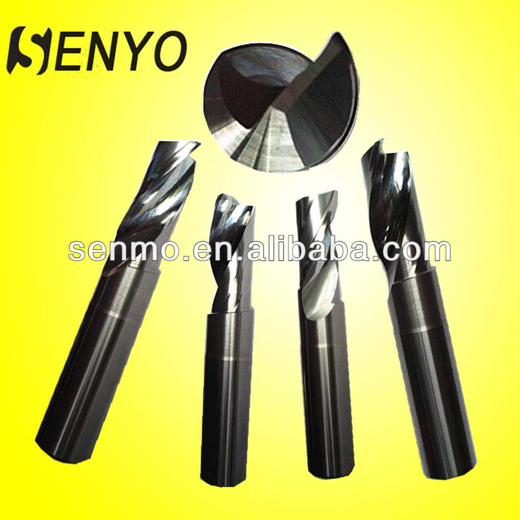 Senyo Monoblock Carbide End Mills Single Flute Milling Cutter For Aluminum/Aerospace Aluminum Cutting Tools