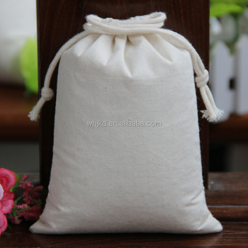 Factory Directly Wholesale Promotional Drawstring Cotton Muslin Bags