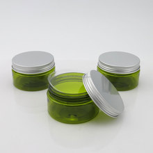 100g easy open green pet jar with silvery cap