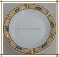 New Designed Royal Bone china Plate, Customized Printed Ceramic Soup Plate with Full Flowers