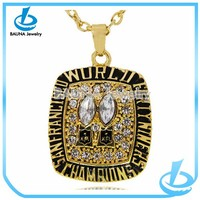 Europe football crystal jewelry pendant alloy gold champion necklace