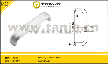 [TANJA] stainless steel glass door handle / commercial glass door handles