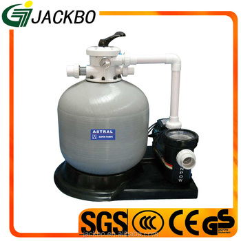2017 Swimming pool cleaner system high quality sand filter with water pump for hot sale