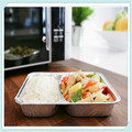 Ac1162 aluminum foil container disposable fast food box aluminum foil lunch box aluminum foil tableware,
