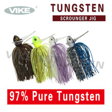 skirted tungsten scrounger fishing jig heads