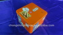 square tin box packing egg roll