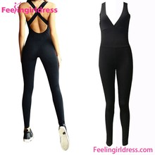 New Arrival Black Sexy Polyester Spandex S M L XL Womens Jumpsuit