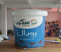 Larger than life custom inflatable bucket can advertising model