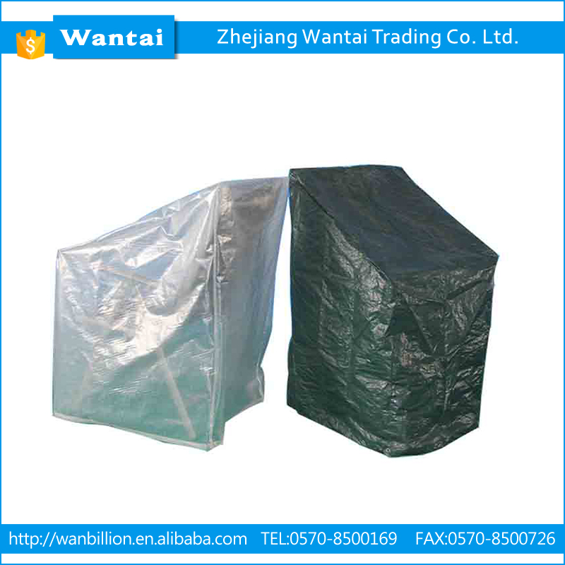 Waterproof anti-uv PE material stacking chair cover