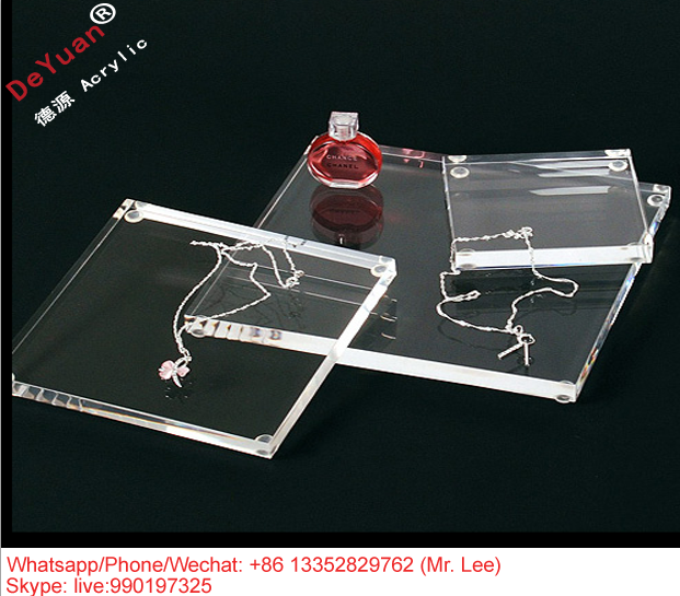 Custom transparent plastic acrylic jewellery tray
