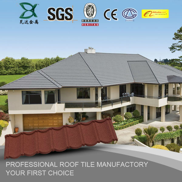 Colorful flat sheet stone coated metal roof tiles prices