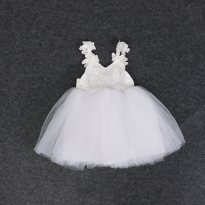 New baby girl clothes christening dress net yarn clothes baby's birthday dress baby girl