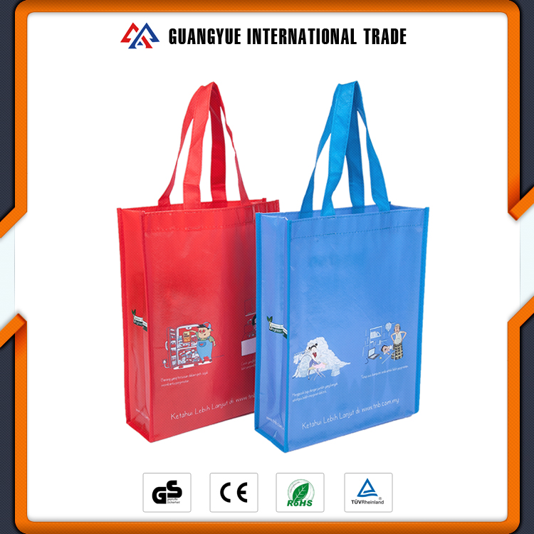 Guangyue China Suppliers Custom Image Laminated Nonwoven Grocery Bag