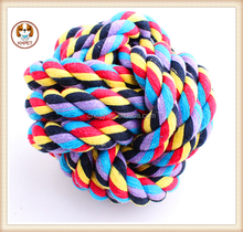 Pet cat dog woven cotton rope ball/cats and dogs chew toys/dogs knot t