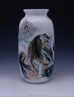 Tiger pattern China Well-known Trademark Hand Painted Underglazed Porcelain ceramic vase decoration