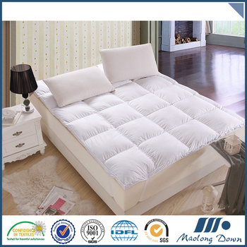 Good quality sell well plain white home mattress pad