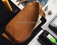 high quality leather zipper smart phone case pu/faux leather passport wallet