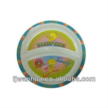 Kids plastic divided plate