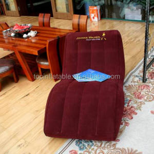Luxury flocked S shape inflatable lounger lazy sofa chair