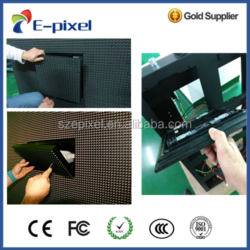 high resolution play video high quality front service module 3G led display p6 outdoor advertising panel