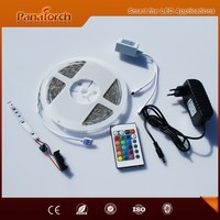 Hot sale 5meter package roll Led strip kit with 24 key remote controller and 36W power supply