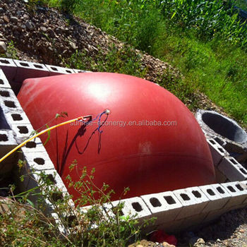 cow farm accessories red-mud membrane small biogas plant for small size biogas digester