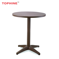 TOPHINE Furniture Hot Sale High Quality Aluminum High Top Round Cocktail Bar Table