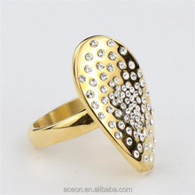 Yiwu Aceon Stainless Steel Amazon hot new gold ring full stone