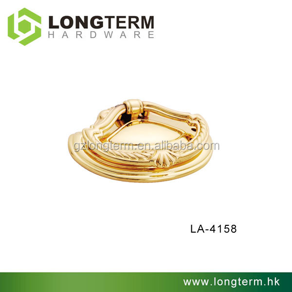 Zamac gold pull ring knob for drawers LA-4158