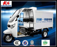 Gasoline 200cc Water Cooled Freezer 3 Wheeler With Temperature Adjustment