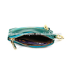 Italian leather lady purse women key holder wallet