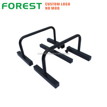 Gym fitness black powder-coated steel parallel bars chin up dip bar steel parallettes bar for push up