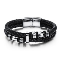 Gb06161086b Factory Directly Leather Wrap Bracelet