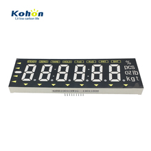 Red number White pattern 6 digits common cathode 7 segment led numeric display for metrical instrument