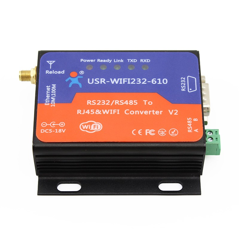 industrial rs232 /rs485 serial wireless server serial to <strong>wifi</strong> and ethernet converter