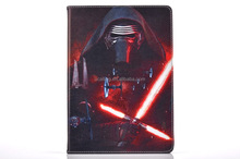 Popular Movie Star War Pu Stand Leather Case With Sleeping and Wake Function For iPad Pro And Samsung