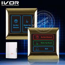 Hotel WIFI smart dnd wall switch, DND and MUR hotel electronic doorbell