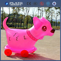 Newly design inflatable animal toys,moving animal toy for kids
