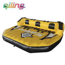 super popular plato PVC Tarpaulin inflatable towable water ski tube