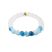 2016 Summer Best Selling Weathered Agate Crystal Beads Energy Bracelet