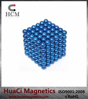 Colorful Neodymium 5mm Blue magnetic ball toy