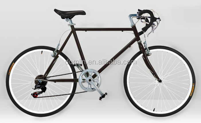 popular sale steel frame 24 inch 6 speed road bike made in China