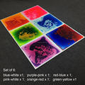 "Multi-Color Dynamic Liquid Flooring Mats Kids rubber Play Mats , 6pcs packing 20""x20"""