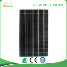 Best price per watt solar panels low price fotovoltaic Solar Panel 260w poly for home use with TUV