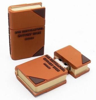 Hot seller 2.0 type promotional book shaped usb flash drive wholesale China supplier