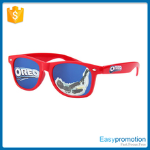 new generation promotion sunglasses with logo direct on lens made in china