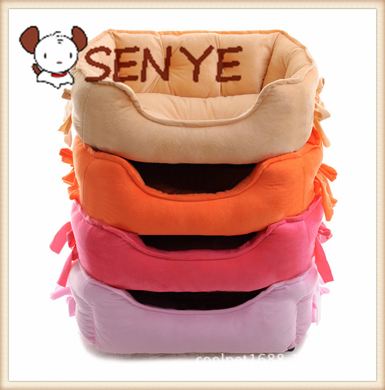 Pet Supplies cute cute bow cat litter pet nest warm autumn and winter handmade dog kennel