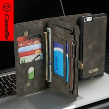 Leather Case for for iphone 6 wallet with Stand Function,with Credit Card Slot,in stock waterproof for iphone 6 plus cases