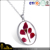 New Arrival Round Shaped Fashion Glass Dried Flower Pendant Necklace